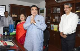 Gadkari takes charge of transport ministry