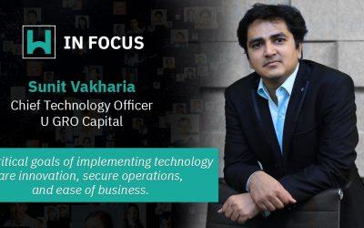 Sunit Vakharia, Chief Technology Officer, U GRO Capital